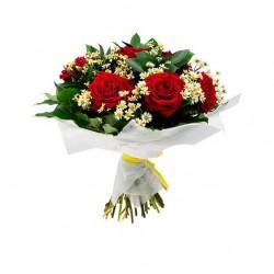 """Букет """"Розы с ромашками"""""""