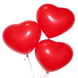 5 гелевых шариков Сердце
