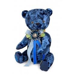 Медведь БернАрт сапфировый, 30 см