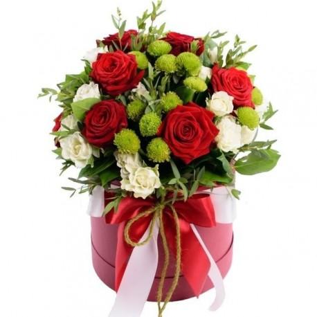 """Коробка с цветами """"Какая прелесть!"""""""