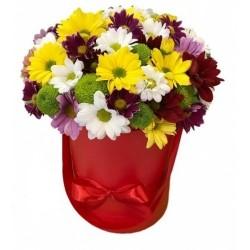 """Коробка с цветами """"Полянка"""""""