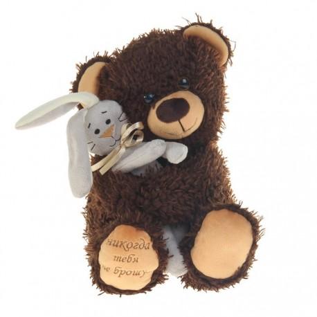 Мягкая игрушка «Медвежонок Чиба с зайцем»