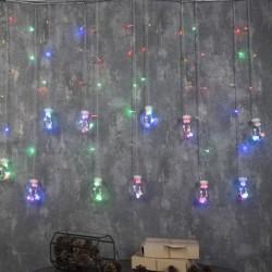 """БАХРОМА, Ш:2.4 м, В:0.7 м, Н.С. """"ШАРИКИ"""", LED-108-220V, 8 режимов, МУЛЬТИ"""