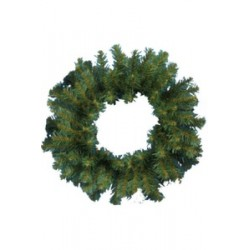 Венок новогодний - 8, d-35 см зеленый