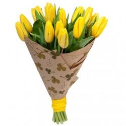 "Букет ""15 желтых тюльпанов"""