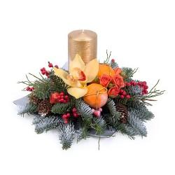 """Новогодняя композиция """"Мандариновый аромат"""""""