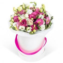 """Коробка с цветами """"Фламинго"""""""