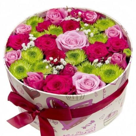 """Коробка с цветами """"Сюрприз"""""""