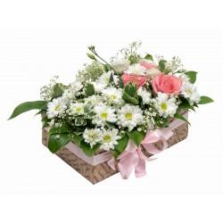 """Коробка с цветами """"Подарок"""""""