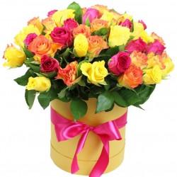 """Коробка с цветами """"Радуга"""""""