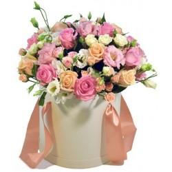 """Коробка с цветами """"Пастельные тона"""""""