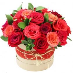 """Коробка с цветами """"Королевский подарок"""""""