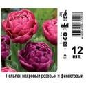 Тюльпан махровый розовый и фиолетовый